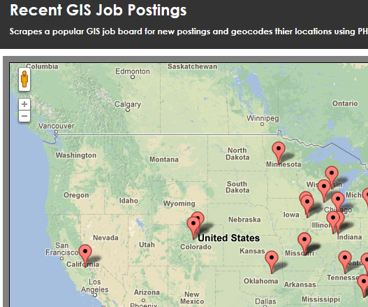 GIS Job Map